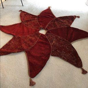 Other - Velvet/velveteen Christmas tree skirt